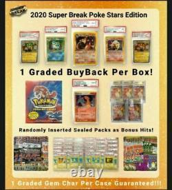 2020 Super Break Poke Stars Pokemon Edition Factory Sealed Box