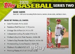 2020 Topps Baseball Series 2 Factory Sealed Retail Box 24 Packs IN STOCK NOW