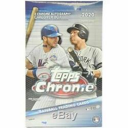 2020 Topps Chrome Baseball Factory Sealed Hobby Box