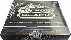 2020 Topps Chrome Black Baseball Factory Sealed Hobby Box