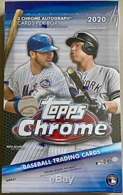 2020 Topps Chrome Hobby Baseball Factory Sealed Unopened Box 24 Packs