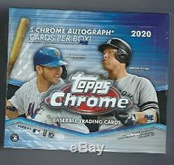 2020 Topps Chrome Jumbo Baseball Factory Sealed Hobby Box
