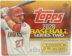 2020 Topps Series 2 Baseball Factory Sealed HTA Jumbo Box