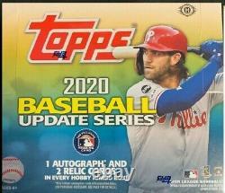 2020 Topps Update Baseball Factory Sealed Jumbo HTA Box