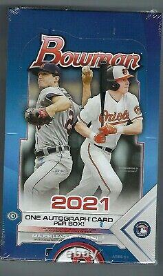 2021 Bowman Baseball Factory Sealed Hobby Box 24 Packs Per Box 1 AUTO
