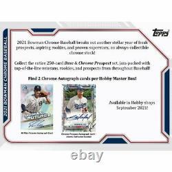 2021 Bowman Chrome Baseball Factory Sealed Hobby Box Pre Sale