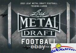 2021 Leaf METAL Draft Football Factory Sealed HOBBY Box-5 AUTOGRAPH ROOKIES