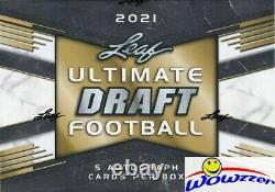 2021 Leaf ULTIMATE Draft Football Factory Sealed HOBBY Box-5 AUTOGRAPH ROOKIES