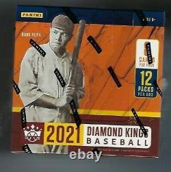 2021 Panini Diamond Kings Baseball Factory Sealed Hobby Box