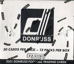 2021 Panini Donruss Football Cards Factory Sealed 12 Pack Fat Pack Box NFL