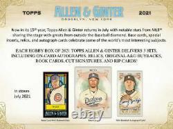 2021 Topps Allen & Ginter Baseball Factory Sealed Hobby Box Pre Sale