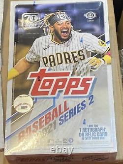 2021 Topps Baseball Series 2 Factory Sealed Hobby Box
