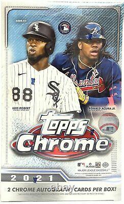 2021 Topps Chrome Baseball Factory Sealed Hobby Box