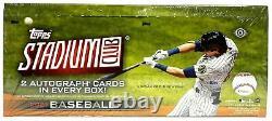 2021 Topps Stadium Club Baseball Factory Sealed Hobby Box