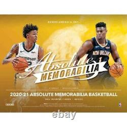 20-21 Panini Absolute Memorabilia Basketball Factory Sealed Ships Free! In Hand