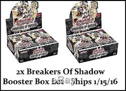 2x YUGIOH Breakers of Shadow Booster Box Factory Sealed 1st Ed. ENGLISH LOT 1/15