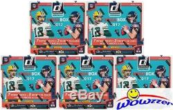 (5) 2017 Donruss Football EXCLUSIVE Factory Sealed MEGA Box with15 HOBBY PACKS