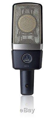 AKG C214 condensor studio mic withmount case C-214 Factory Sealed Retail Box