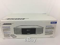 Bose Wave Radio IV with Remote Control Platinum Silver IN FACTORY SEALED BOX