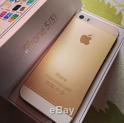 Brand New Sealed In Box Apple iPhone 5S 16GB Factory Unlocked Gold Smart Phone
