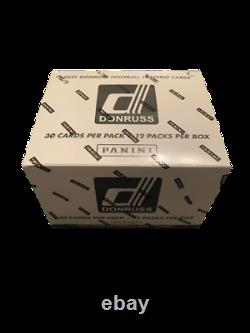 Donruss 2021 NFL Football Factory Sealed Cello Fat Pack (12 Pack) Box