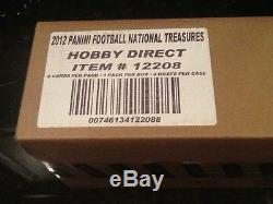 FACTORY SEALED 4 BOX CASE 2011 PANINI NATIONAL TREASURES FOOTBALL CARDS NEWTON