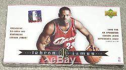 FACTORY SEALED BOX LEBRON JAMES ROOKIE CARD SET 2003-2004 UPPER DECK RANDOM AUTO