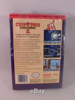 Factory Sealed Chip & Dale Rescue Rangers 2 Complete In Box (Nintendo, NES)