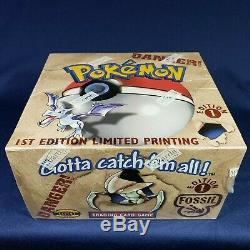 Fossil 1st Edition Booster Box Pokemon 1999 WOTC Factory Sealed English 36 Packs