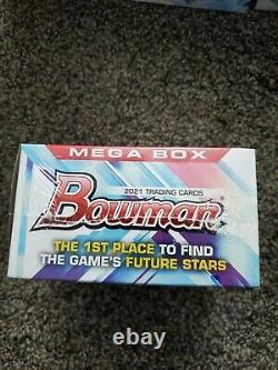 LOT OF 4 2021 Topps MLB Bowman Baseball Mega Box Factory Sealed SHIPS TODAY