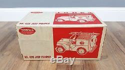 NIB Vintage Tonka Jeep Pumper No. 425 Fire Truck in Factory Sealed Box