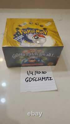 Pokemon Base Set Booster Box 1999 WOTC Factory Sealed English 36 Packs Beautiful