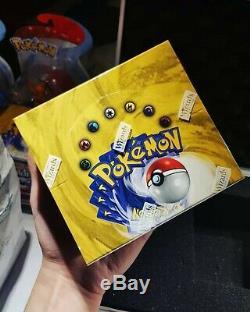 Pokemon Base Set Booster Box (36 packs) Factory Sealed 1999 WOTC WOC06034