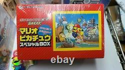 Pokemon Center Japanese Mario Pikachu Card Box XY Break 294/XY-P Factory Sealed
