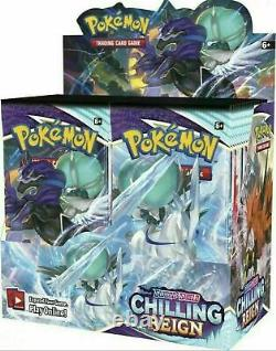 Pokemon Chilling Reign Booster Box 36 Pack FACTORY SEALED NEW