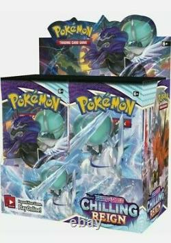 Pokemon Chilling Reign Case of 6 Booster Box SWORD & SHIELD Factory Sealed