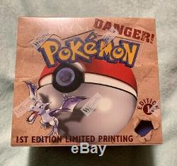Pokemon Fossil 1st Edition Booster Box 36 Pack Factory Sealed, WOTWC