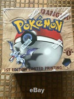 Pokemon Fossil 1st First Edition Factory Sealed Booster Box English