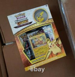 Pokemon Sun & Moon 3.5 Shining Legends Pikachu Pin Collection Box Factory Sealed