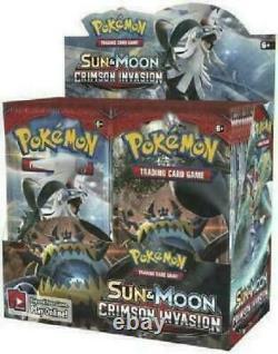 Pokemon Sun & Moon CRIMSON INVASION 36 pack BOOSTER BOX Factory Sealed
