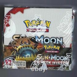 Pokemon Sun & Moon Crimson Invasion Booster Box 36 Pack NEW FACTORY SEALED