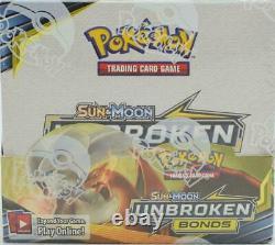 Pokémon Sun & Moon Unbroken Bonds FACTORY SEALED Booster Box 36 Packs