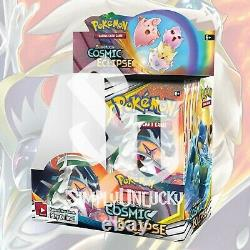 Pokemon TCG COSMIC ECLIPSE 1/2 Booster Box FACTORY SEALED 18 Packs (no box)