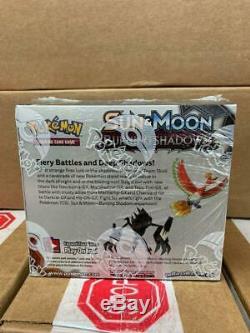 Pokemon TCG SM3 Burning Shadows English Booster Box Factory Sealed