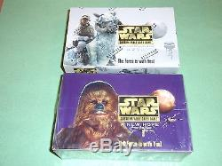STAR WARS- Decipher card game CCG- A New Hope, Hoth- 2 factory sealed box lot