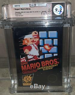 Super Mario Bros WATA 9.2 A Brand New Factory Sealed Nintendo NES HANGTAB 1985