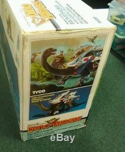 Tyco DINO-RIDERS Brontosaurus W Serena, Ayce And Ion Factory Sealed W Box