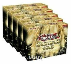 Yugioh Maximum Gold Display Box- 5 Mini Boxes- Factory Sealed